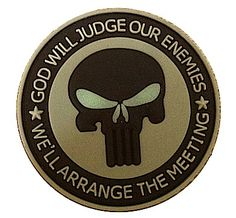 PVC God Will Judge Patch | Military Patches | OPSGEAR.com