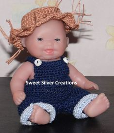 Crochet Pattern  5.5 inch Berenguer/Lots by SweetSilverCreations, $3.25