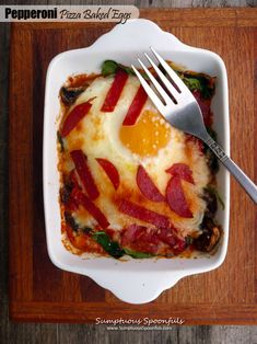 Baked Eggs with Mushrooms and Parmesan