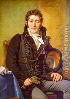 Portrait of the Count de Turenne 1816, by Jacques Louis David.  Note his collar is fur and possibly his coat is lined with it. Appears to be bear.