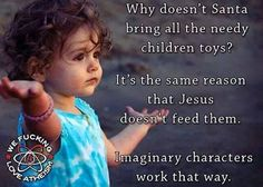 Santa doesn't deliver toys to poor kids for the same reason god doesn't feed the starving children around the world.
