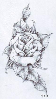 black rose arm tattoos for women | rose and its leaves drawing tattoo skull inside rose leaves