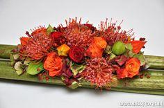 "Wide polygonum surface with exclusive ""Leucos Naomi"" - autumn arrangement Orange Wedding Flowers, Fresh Flowers, Beautiful Flowers, Artificial Flower Arrangements, Artificial Flowers, Floral Arrangements, Art Floral, Floral Design, Botanical Decor"