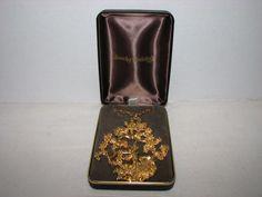 VINTAGE SASCHA BRASTOFF NECKLACE MING TREE GOLD PLATED IOB SIGNED SASCHA B #SASCHABRASTOFF #Pendant