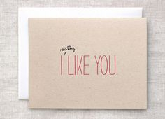 Hey, I found this really awesome Etsy listing at https://www.etsy.com/listing/88716450/i-like-you-card-cute-valentines-day-card