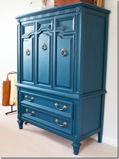 I see people rejecting cabinet pieces all the time but some molding, hardware, the right paint create a fresh new feel.
