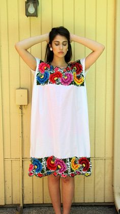 Vintage 70s Mexican TENT dress// Cotton// Heavy by hakther on Etsy, $65.00