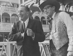 Walt Disney with Wally Boag (The Golden Horseshoe Revue, Disneyland)