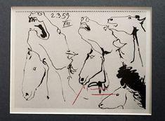 Pablo Picasso Signed Lithograph 53 auction est 7-8k