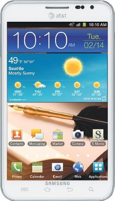 Samsung Galaxy Note 4G Android Phone, Ceramic White (AT)