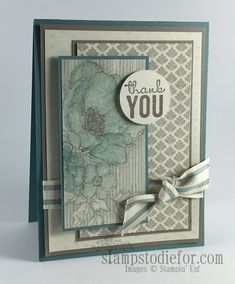 Stampin' Up! Timeless Elegance Thank You Card