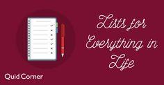25 Lists You Should Make