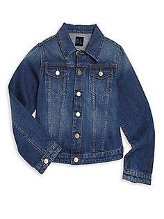 DL1961 Premium Denim Girl's Manning Faded Denim Jacket - Blue