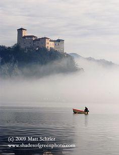 Arona, Italy Art Photograph Print - Morning on Lake Maggiore - Fine Art Photography by Matt Schrier