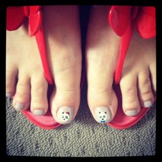 Perfect pandas Flip Flops, Nails, Women, Fashion, Pandas, Finger Nails, Moda, Ongles, Fashion Styles