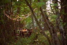 Dinner by Fairy lights