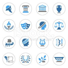 Ancient Greece Icons royalty-free stock vector art