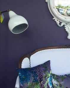Benjamin Moore 2017 Color of the Year, Shadow Paint Color Palettes, Paint Color Schemes, Wall Paint Colors, Benjamin Moore Shadow, Benjamin Moore Colors, Decor Interior Design, Interior Styling, Elle Decor Magazine, Color Of The Year 2017