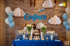 Airplanes birthday party dessert table! See more party ideas at CatchMyParty.com!