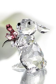Swarovski Rabbit With Tulips - Crystal Classics