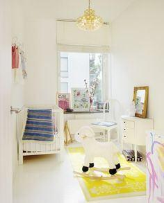 Modern Nursery Inspiration - love the non-theme going on
