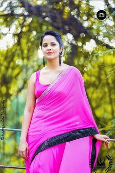 Film Actress: TV Anchor Anasuya Sexy Saree Photoshoot Stills Beautiful Girl Indian, Beautiful Girl Image, Most Beautiful Indian Actress, Beautiful Saree, South Indian Actress Photo, Indian Actress Images, Indian Actresses, Saree Photoshoot, Amai