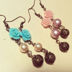 Earrings and roses