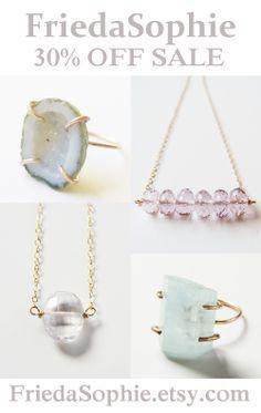Eco Friendly, Handmade Artisan Jewelry. ** SALE ** - 1/1-1/5 at FriedaSophie.etsy.com