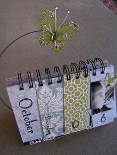 PDF Tutorial --- Perpetual Desktop Calendar --- Create Your Own Gifts This Christmas. $5.00, via Etsy.