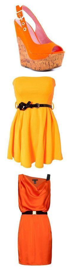 """Orange (1)"" by brittneysaysrawrrr ❤ liked on Polyvore featuring shoes, sandals, wedges, heels, casual, open toe, platform, pumps, slingback and women #platformpumpswedges #wedgesshoes"