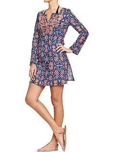 Women's Embroidered Gauze Cover-Up | Old Navy
