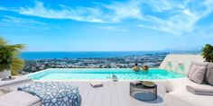 Beautiful villa with private roof top pool in Nueva Andalusia, Costa del Sol, South of Spain #spain #villa #rooftop #pool #seaview #costadelsol #forsale #marbellahomes