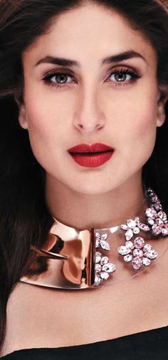 Kareena Kapoor in Maire Claire Photoshoot wearing Statement Necklace
