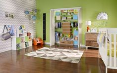 Create a kids room that will grow with ClosetMaid's ShelfTrack system.