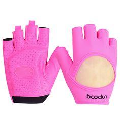 Women Gym Fitness Gloves Breathable Half Finger Slip Yoga Equipment Dumbbell Sports Gloves Body Building Weight Lifting Training
