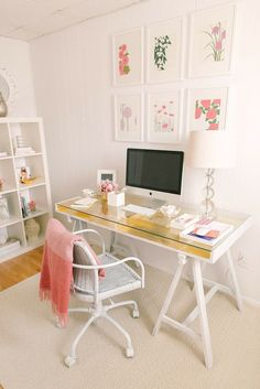 An Ikea desk gets a glamorous upgrade!