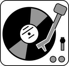 - Turntable With Record Artwork - #dj #djart #turntable #recordplayer #music #vinyl #illustrationhttp://www.pinterest.com/TheHitman14/for-the-record/