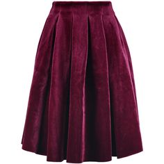 Maje Pleated velvet skirt (2,760 MXN) ❤ liked on Polyvore featuring skirts, burgundy, burgundy skirt, maje, velvet skirt, knee high skirts and knee length pleated skirt
