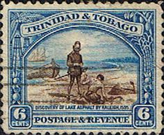 Trinidad and Tobago 1935 First Decimal SG 233a Discovery of Lake Asphalt Fine Used Scott 37a  Other Trinidad and Tobago Stamps HERE