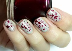 Creepy Blood Splatter Nail Art - The Nail Network