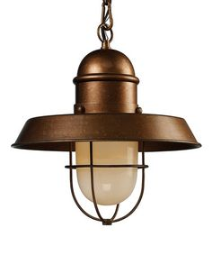 Loving this Bellwether Copper Farmhouse One-Light Pendant on #zulily! #zulilyfinds