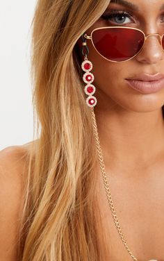 Red Gem Sunglasses Chain