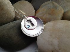 Baby feet personalized hand stamped sterling by thecharmedwife, $37.00