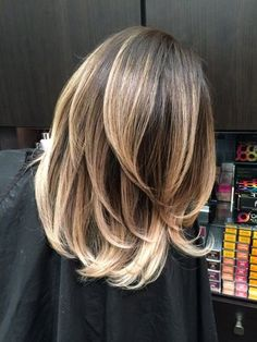 black to Blonde Balayage- not this cut- just the color