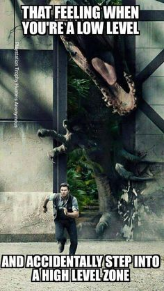 Run Away! #gamers #JurassicWorld / http://saltlakecomiccon.com/slcc-2015-tickets/?cc=Pinterest