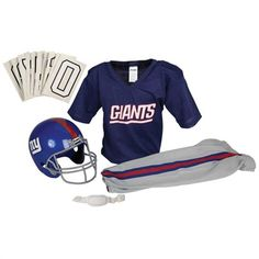 New York Giants Kids Deluxe Team Uniform Set