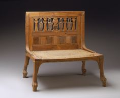 Chair, New Kingdom, Dynasty 18, early co-reign of Thutmose III and Hatshepsut, ca. 1479–1473 B.C.  From the tomb of Hatnofer and Ramose    http://www.metmuseum.org/toah/works-of-art/36.3.152