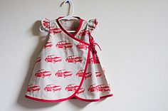 Baby Wrap Dress made with Echino fabric - via Etsy