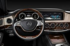 Beautiful inside and out! The new S-Class lures you in with its comfortability und luxurious interior design. Take a look! [Fuel consumption (combined): 10.3-5.5 l/100km | CO2-emission (combined): 242-146 g/].  http://mb4.me/Efficiency-Statement/