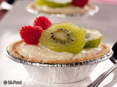Flashy Fruit Tarts are a healthy and enjoyable dessert that the whole family will love. Using store-bought tart shells will have you looking like a professional pastry chef without even breaking a sweat!